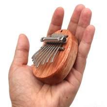 Mais novo 8 chave mini kalimba requintado dedo polegar piano marimba musical bom acessórios presentes pingente instrumentos de teclado 2021