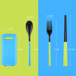 1PCS Camping Portable Cutlery Travel Kids Adult My food picks Fork Picnic Set for Child dinnerware Camping Picnic Set
