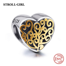 925 Silver Heart Shape Fit Original Pandora Charms Beads DIY Charms Color Enamel Sterling-Silver-Jewelry Making for women gifts стоимость