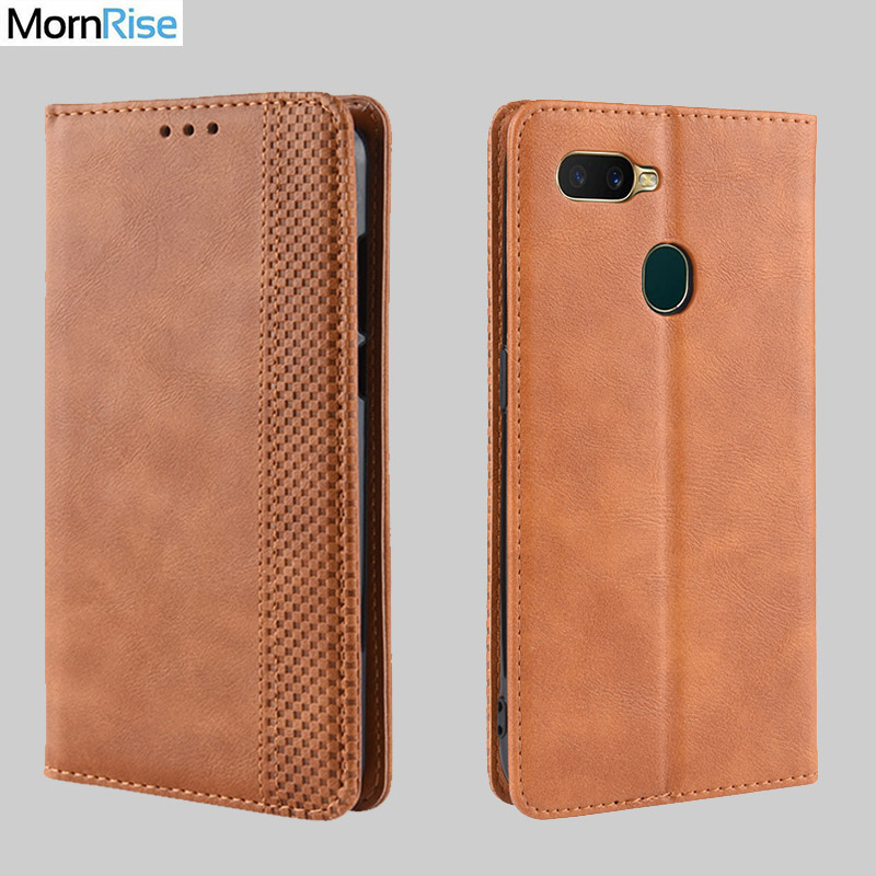For <font><b>OPPO</b></font> A7 / <font><b>A5S</b></font> <font><b>Case</b></font> Book Wallet Vintage Slim Magnetic Leather Flip Cover Card Slot Stand Soft Cover Luxury Mobile <font><b>Phone</b></font> Bags image