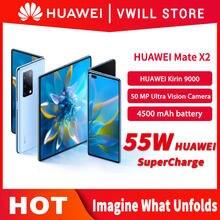 Mais estoque 100% original huawei companheiro x2 5g mobilephone 8 polegada tela dobrada kirin 9000 octa núcleo 4500mah câmera selfie 16mp