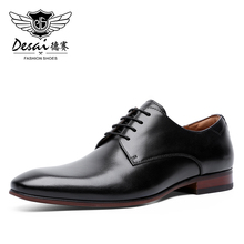 Men Dress Shoes Lace up Leather Oxford Classic Modern Formal Business Comfortable Dress Shoes for Men