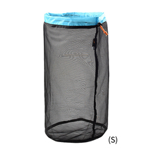 Foldable Home Mesh Storage Bag Hiking Outdoor Sports Drawstr