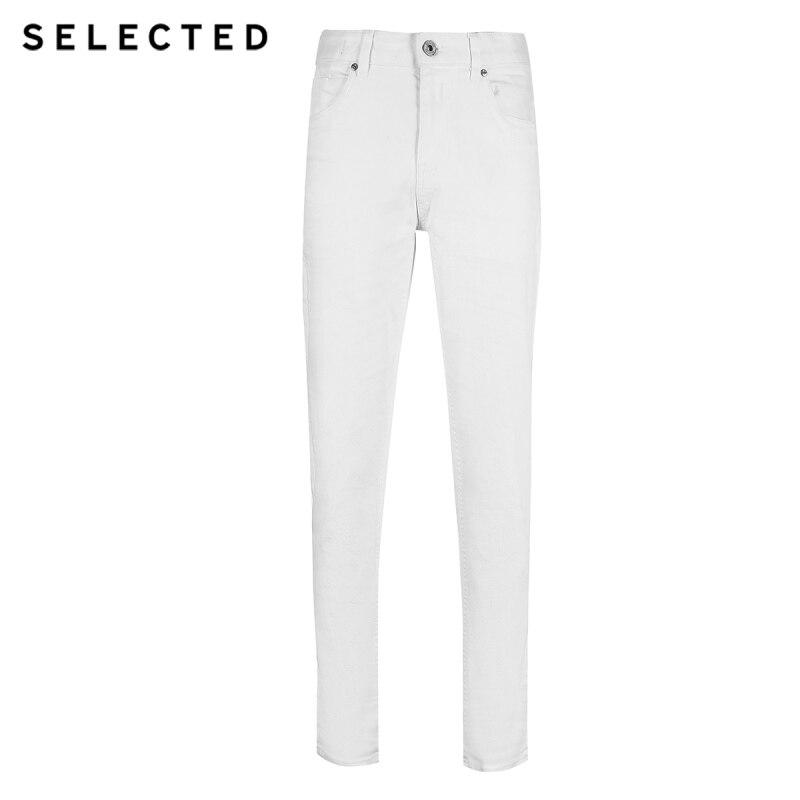 Image 5 - SELECTED Stretch Denim Pants Black Tight leg Jeans C419132508Jeans