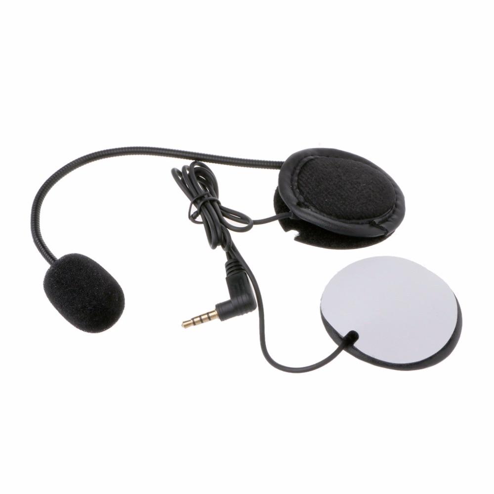 Microphone Speaker Soft Cable Headset 3.5mm Jack Plug No Clip For V4 V6 Motorcycle Helmet Bluetooth Interphone Intercom Headset