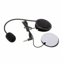 Microphone Speaker Soft Cable Headset 3.5mm Jack Plug No Clip For V4 V6 Motorcycle Helmet Bluetooth Interphone Intercom Headset стоимость