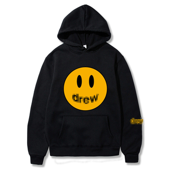 Fashion Men Hoodie Printed Smiley Face For Men And Women Hip Hop Pullover Winter Fleece Hoodies