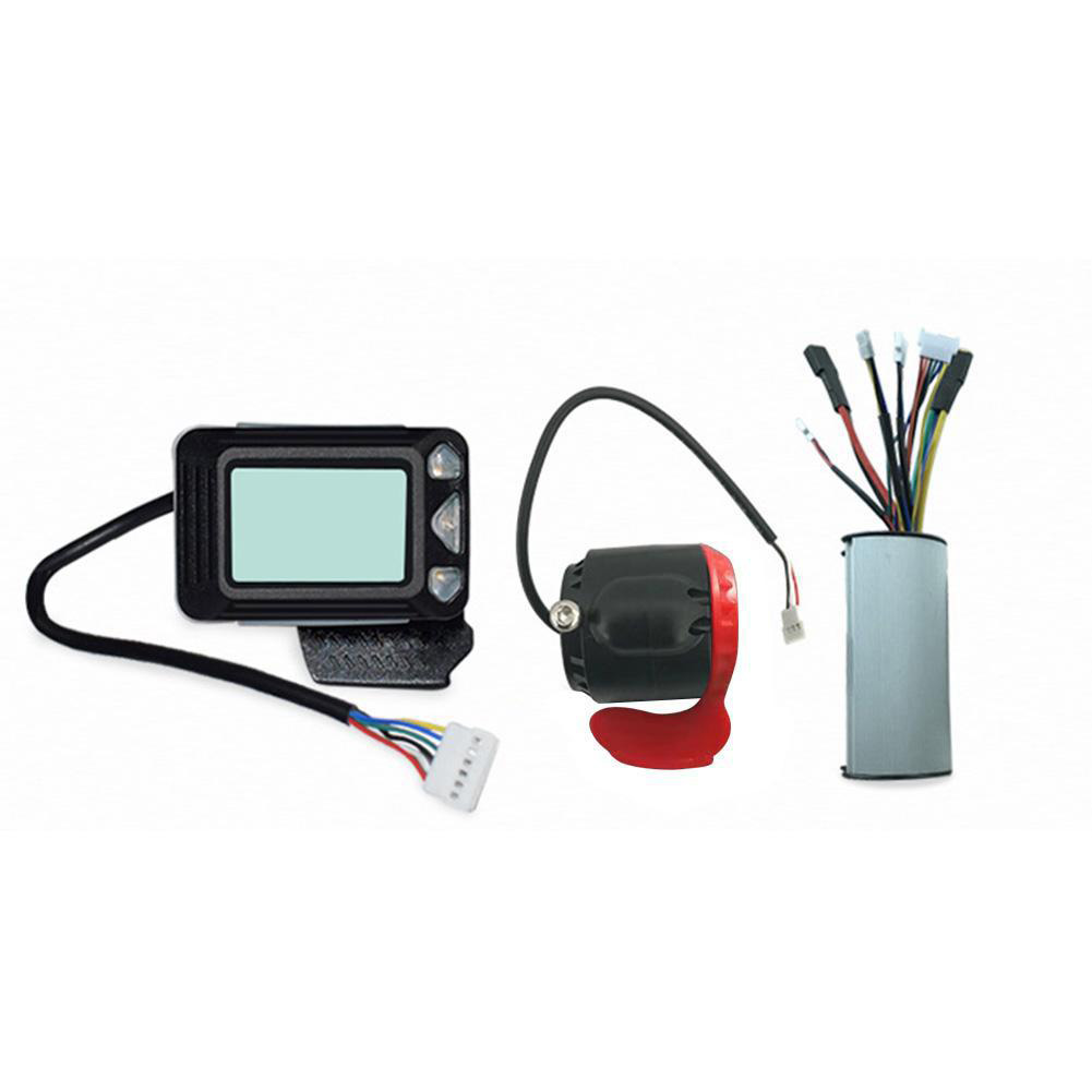 24V 250W Electric Bicycle Controller 5.5in LCD Display Aluminum Alloy Carbon Fiber Display Frequency + Brake Scooter Parts