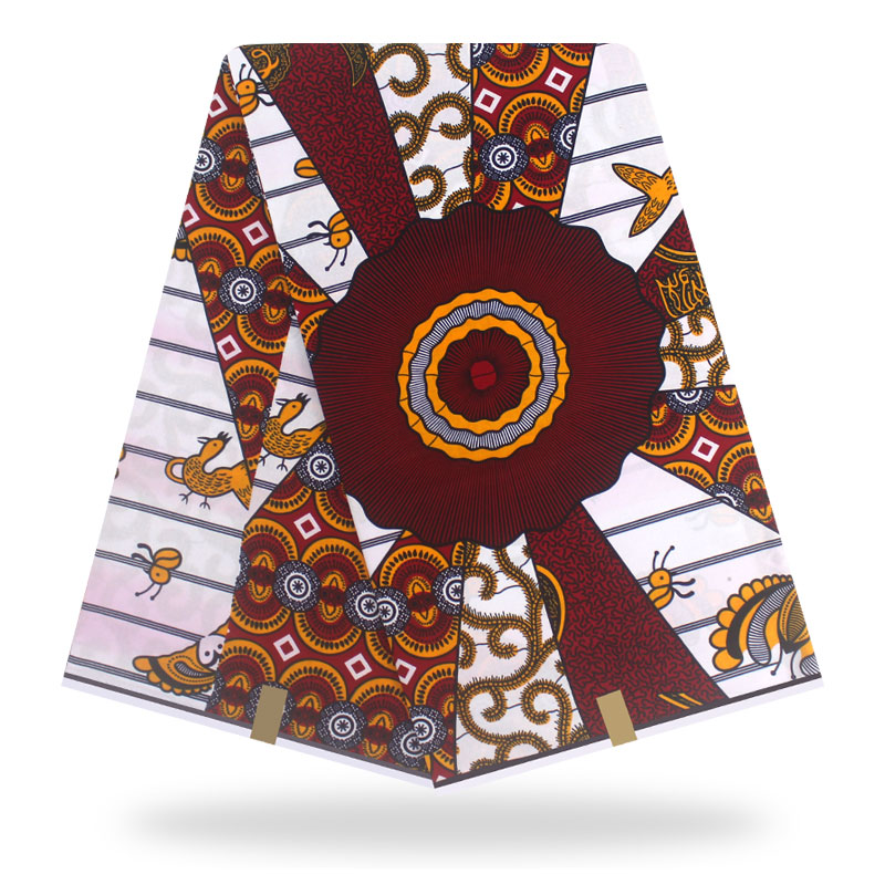 African Fabric Guaranteed Veritable  Real Wax  Wax African Print Fabric Cotton Pagne Africain Hot Wax
