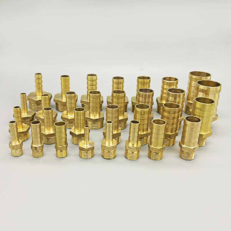 "Brass Pipe Fitting 4mm 6mm 8mm 10mm 12mm 19mm Hose Barb Tail 1/8"" 1/4"" 1/2"" 3/8"" BSP Male Connector Joint Copper Coupler Adapter"