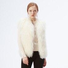 Натуральный мех Veste модный винтажный монгольский овечий ягненок Топ без рукавов, майка жилет Парка женская куртка