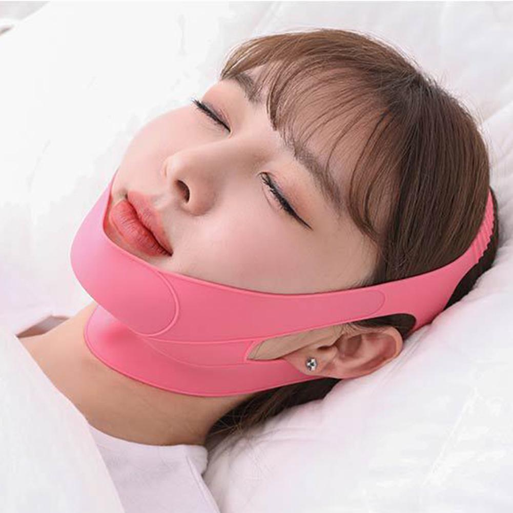 Delicate Face Neck Wrinkle Breathable Removal Slimming Mask Double Chin Lifting Face Firming Sleep Band Hot Sale Jade Roller