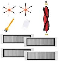 1xDetachable Main Brush+2xOrange 6 Arm Side Brush+4xFilter+2xCleaning Brush for Xiaomi / Roborock S50 S51 S55 S5 S6 Robot Vacuum Home Automation Modules     -