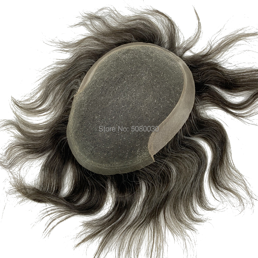 Custom Maed Toupee Welding Mono Lace In Top And Front Men Wig