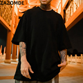 ZAZOMDE Neue Baumwolle T-shirt kurzarm Mann Sommer Lose feste t-shirt für männer Rundhals Top Hip Hop Männlich Plus größe T hemd