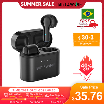 BlitzWolf BW-FYE9 TWS bluetooth 5.0 Earphone Wireless Earbuds Half In-ear DSP Noise Reduction Low Latency Gaming with Mic Buds 1