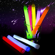 5 pcs 15cm Fancy Safe Light Weight Solid Plastic Fluorescent Liquid Glow Sticks for Christmas Halloween Party Concerts