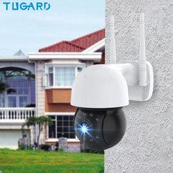 Outdoor Waterproof Wifi Surveillance Camera,1080P Night Vision HD PTZ IP Camera,Onvif P2P Audio CCTV Network Security Cameras