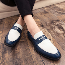 Large Size 38-48 Mens Loafers Moccasins Slip on Leather Shoes Men Casual Shoes Fashion Lazy Peas Shoes Mixed Color Driving shoes new men s octopus leather penny loafers crocodile slip on driving shoes mens casual shoes moccasins business boat shoes branded