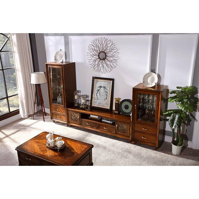 meuble tv en bois massif bon marche wa674