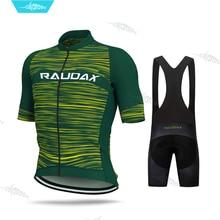 Aleing 2020 Road Bike Jersey Fashion Clothes Cycling Clothing Short Sleeve Jerseys Pro Team Set Men Uniform MTB Skinsuit