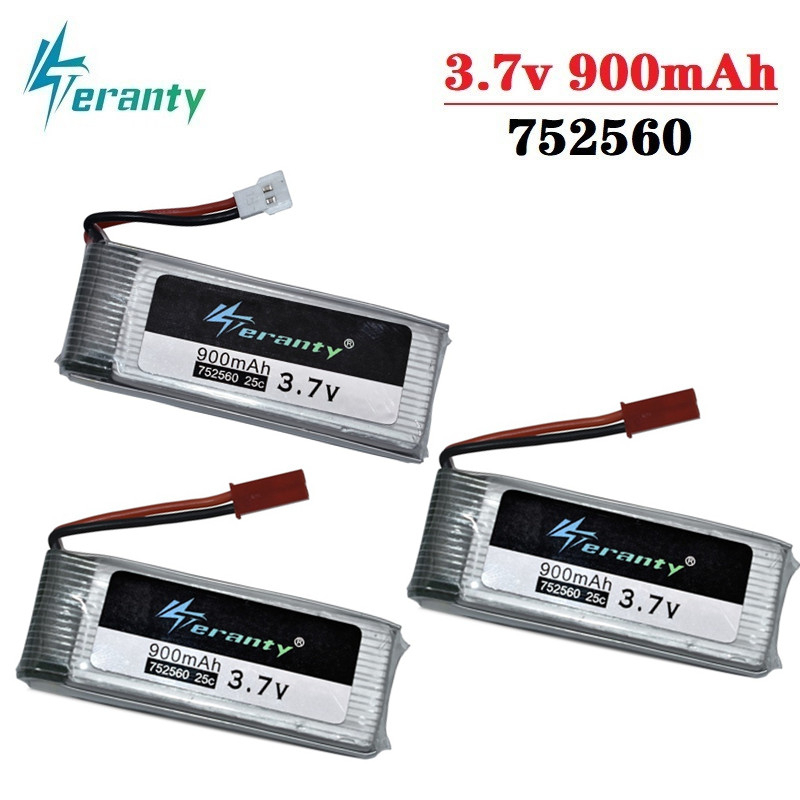 3.7V 900mah lipo Battery For X5 X5C X5SC 8807 8807W A6 A6W M68 Rc Quadcopter Spare Parts Accessories Drones battery <font><b>752560</b></font> 3Pcs image