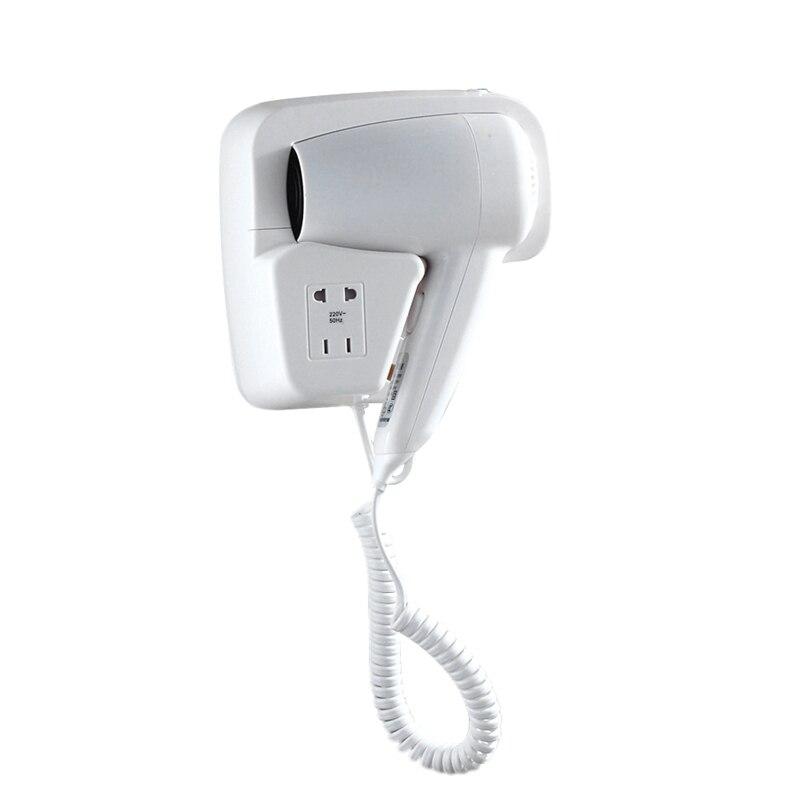 Hotel Bathroom 1300 Watt Wall Mounted with Landline Dryer Hair Dryer White EU Plug Hair Dryers     - title=