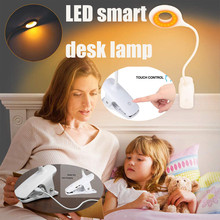 Table-Lamp Led Clip Magnifier Gooseneck Study Desktop Rechargeable