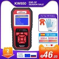 KONNWEI KW850 La OBD2 herramientas de diagnóstico de coche OBD 2 Auto escáner del motor O2 sensor de control de batería código OBDII lector PK CR3008
