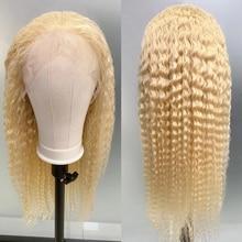 613 блондинка 13x4 Синтетические волосы на кружеве al парики из натуральных волос на кружевной основе бразильские волосы глубокая волна парики ...