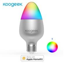 Koogeek Smart WiFi ampoule E27 8W couleur changeante ampoules LED à intensité variable fonctionne avec Apple HomeKit Support Siri planifie les minuteries