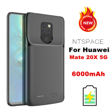 цена на NTSPACE 6000mAh Ultra Slim Battery Charger Cases For Huawei Mate 20X 5G External Battery Power Bank Pack Charging Cover Case