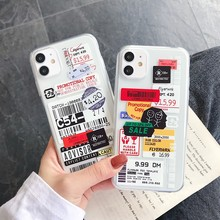 Nieuwe Tij Merk Tags Soft Silicon Telefoon Case Voor Etui Iphone 11 Pro Max Se 2020 7 8 Plus X xr Xs Max Non-Slip Achterkant Coque(China)