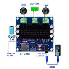 TDA7297 2*15 ワットブルートゥース 5.0 クラス AB アンプボードステレオデュアルチャンネルの Aux/Bluetooth/TF カードアンプ