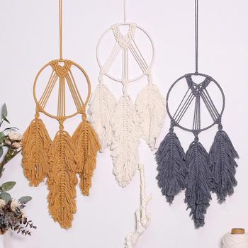 Leaf Tapestry Boho Decor Macrame Wall Hanging Witchcraft Supplies Tassel Room Decorations Dorm Gift