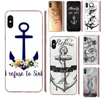 I Refuse To Sink Anchor For Samsung Galaxy Note 5 8 9 S3 S4 S5 S6 S7 S8 S9 S10 5G mini Edge Plus Lite Soft TPU Top Selling image