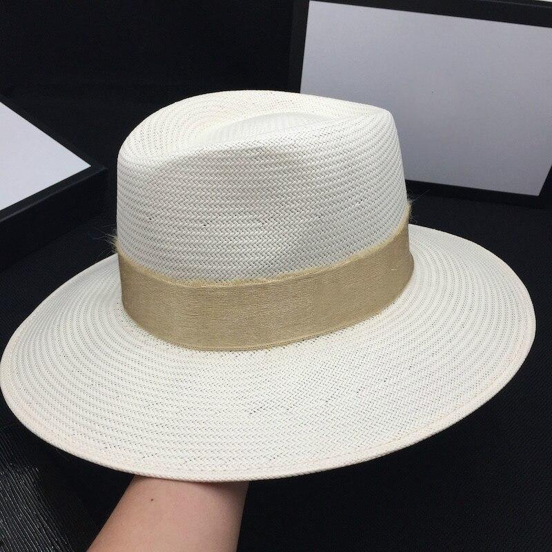 White peach hat female fashion wild hat beach holiday sun hat sun hat