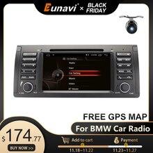 Eunavi 1 din 7 Android 10.0 samochodowy odtwarzacz dvd dla BMW E53 E39 X5 czterordzeniowy radio samochodowe samochodowe Multimedia Stereo z DSP WIFI BT SWC