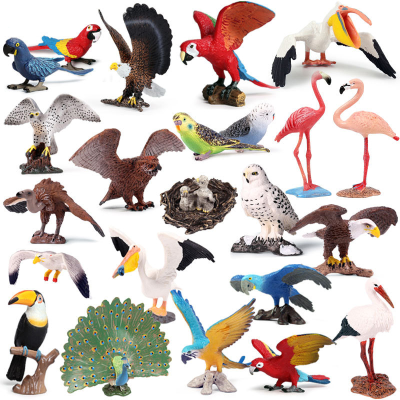 41 Kidns Birds Animals Model Action Figure Simulation Action Figures Collection PVC Lovely Toy Kids Gift