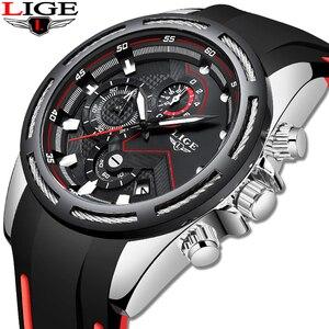 Image 5 - Relogio masculino 2019 lige novo relógio do esporte dos homens relógio de quartzo marca original dos relógios de aço inoxidável dial relógio à prova dwaterproof água
