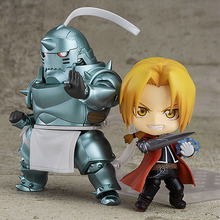 NEW 10cm JUMP Fullmetal Alchemist Anime Figures Alphonse Elric Toys Edward Elric Action Figura Collectible Model Elric Doll