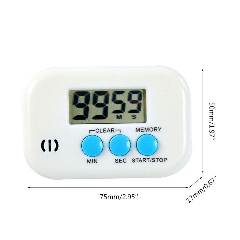 Temporizador eletrônico da cozinha digital despertador contagem