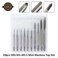 Free Shipping 10pcs HSS M1 M1.2 M1.4 M1.6 M1.7 M1.8 M2 M2.5 M3 M3.5 Mini Tap Drill Bit Machine Metric Thread Tap Set Screw Tap|Tap & Die| |  -