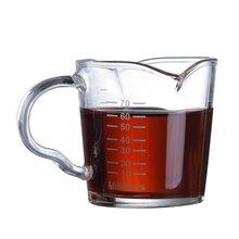 70 мл маленький стакан для молока со шкалой Термостойкое стекло