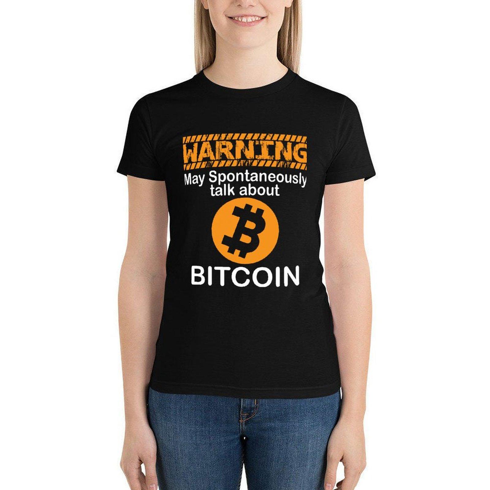 Bitcoin Tshirt Short-Sleeve Womens Cotton T Shirt Summer O Neck Graphic New Fashion Tee Shirt XXL 1