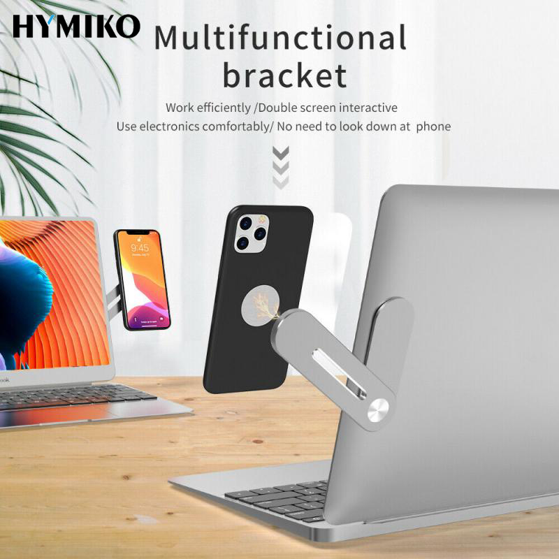 HYMIKO Multi Screen Support Laptop Phone Holder Monitor Connects Bracket Holder Display Screen Side Mount Stand For Smartphone