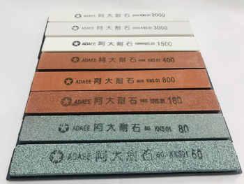 8pcs/lot 60#80#180#400#800#1500#2000#3000# sharpening stone grinding whetstone for kitchen knife sharpener system