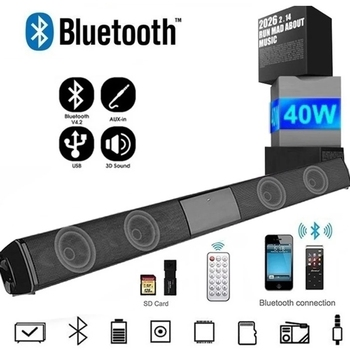 d6 speakers tv sound bar usb wired and wireless bluetooth home theater fm radio surround soundbar for pc tv speaker for computer Home Audio&TV Speaker Wireless Bluetooth SoundBar Speakers Bass 3D Surround Stereo Loudspeaker for PC Theater TV Computer