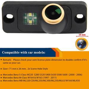 Image 2 - HD 1280x720p Auto Hintere Ansicht rückseite Kamera für Mercedes Benz S Klasse W220 S280 S320 s400 M W163 W164 MB ML320 300 63 450