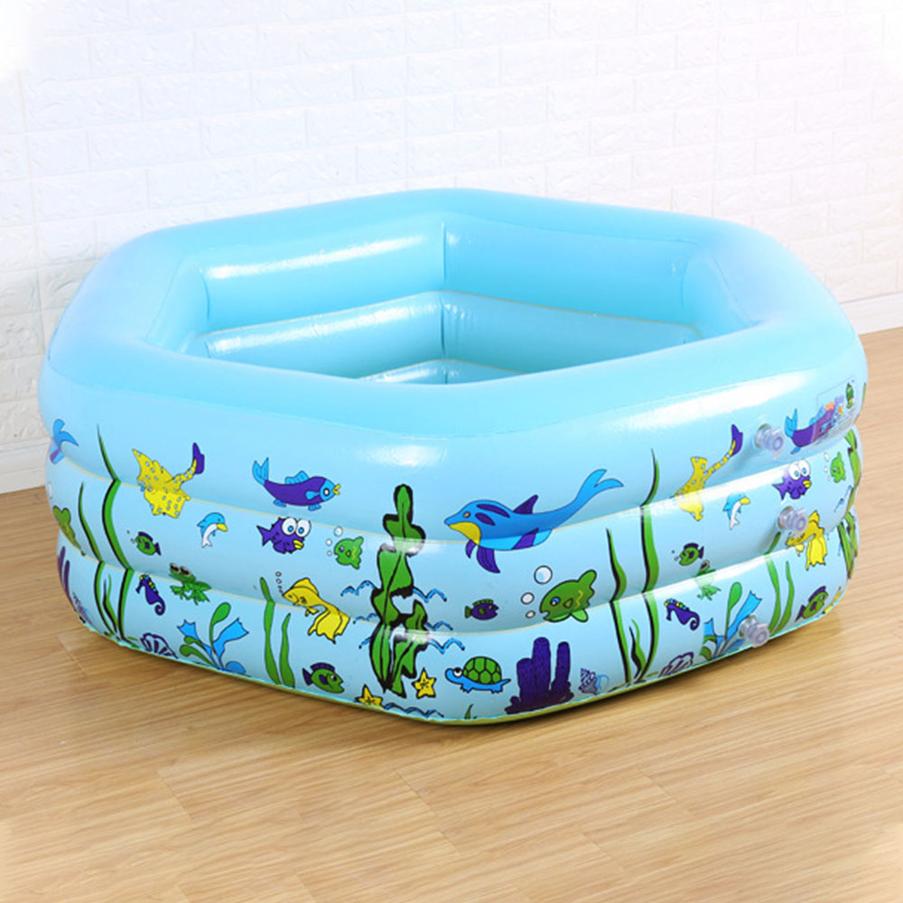 Inflatable Swimming Pool Portable Outdoor Children's Garden Hexagonal Bathing Pool Baby Indoor Inflatable Pool Water Game May18